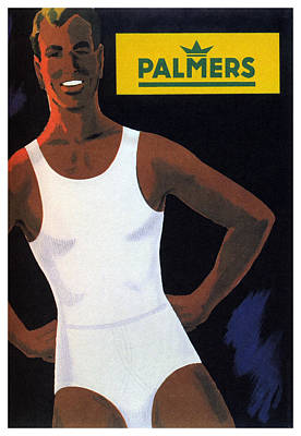 Mixed Media - Palmers - Mens Vests and Briefs - Vintage Advertising Poster by Studio Grafiikka