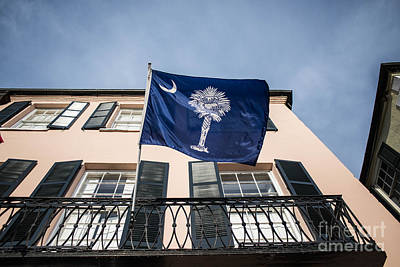 Charleston Photograph - Palmetto Flag In Charleston by Manda Renee