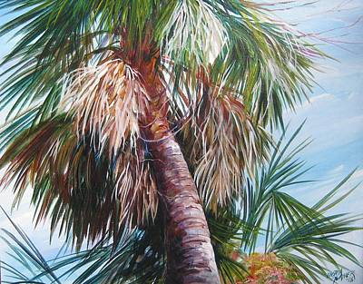 Palmetto In Acrylics Art Print by Gloria Turner
