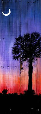 Palmetto Tree Painting - Palmetto Moon by Ashley Galloway