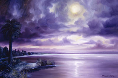 Palmettos Painting - Palmetto Moonscape by James Christopher Hill