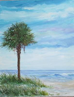 Painting - Sold  Palmetto On The Beach by Gloria Turner