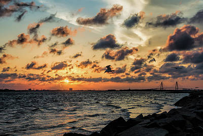 Photograph - Chucktown Sundown by Ed Waldrop