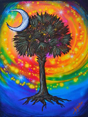 Palmetto Tree Of Life Art Print
