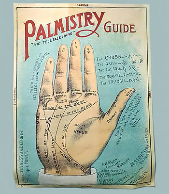 Digital Art - Palmistry Guide by Jeff Burgess