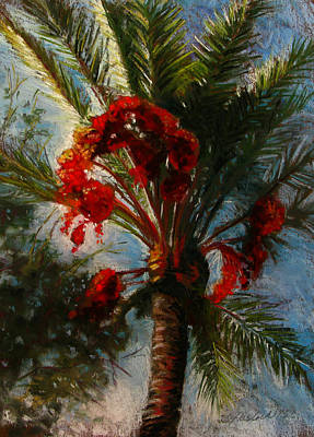 Pastel - Palm's A Glow by Carole Haslock
