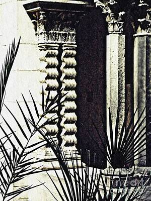 Palms And Columns Art Print by Sarah Loft