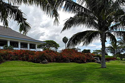 Palms And Kahili Golf Course Clubhouse  Art Print by Kirsten Giving