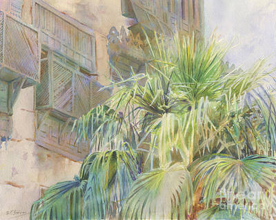 Palms And Shutters Print by Dorothy Boyer