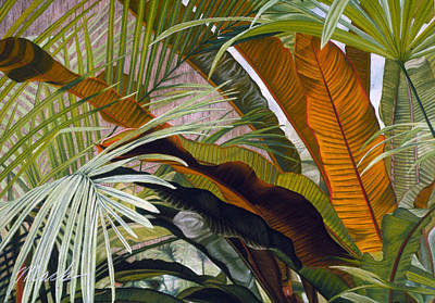 Pastel - Palms At Fairchild Gardens by Stephen Mack