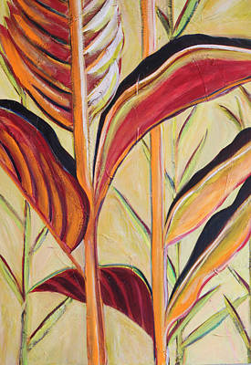 Wall Art - Painting - Palms At Sunrise by Evelyn Niehaus