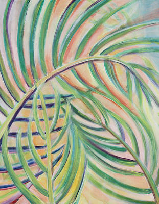 Wall Art - Painting - Palms At Sunset by Evelyn Niehaus