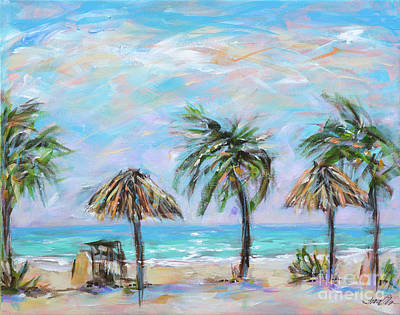 Painting - Palms At Sunshines by Linda Olsen