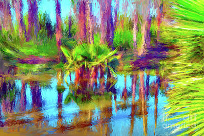 Painting - Palms In Estuary II by Gerhardt Isringhaus