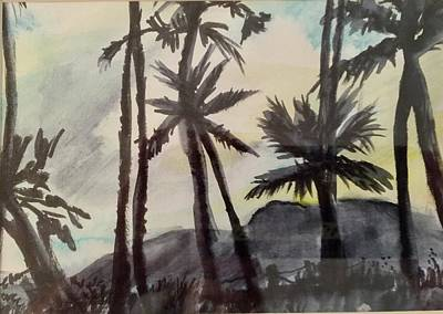 Painting - Palms In Silhouette by Charme Curtin