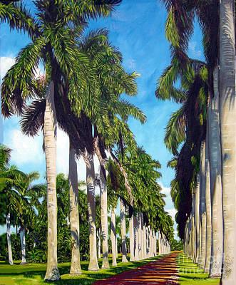 Palms Art Print by Jose Manuel Abraham