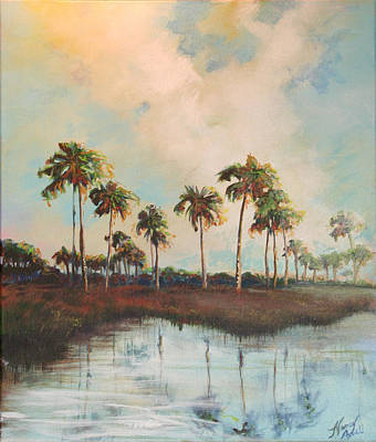 Palms Of Course Art Print by Michele Hollister - for Nancy Asbell