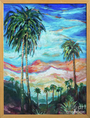 Painting - Palms On Hill by Linda Olsen