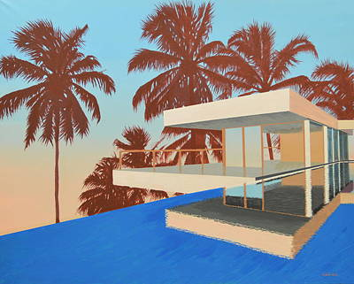Palms On The Edge Original by Slade Hartwell