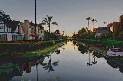Venice Beach Photograph - Palms Reflected by Richard Omura