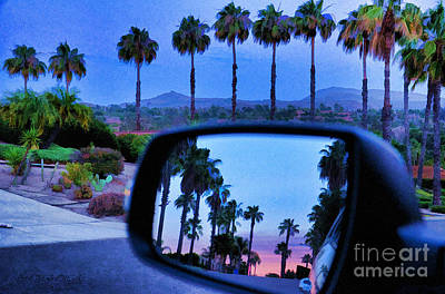 Photograph - Palms Sunset Reflection by Sharon Soberon