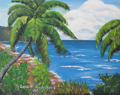 Painting - Palms View by Luis F Rodriguez