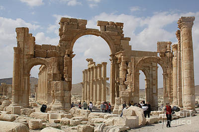 Photograph - Palmyra Before...triumphal Arch by PJ Boylan