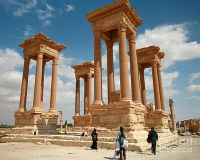 Photograph - Palmyra-tetrapylon by PJ Boylan