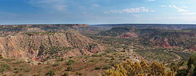 Photograph - Palo Duro Canyon Panorama by Susan Rissi Tregoning