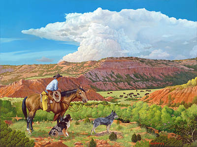 Painting - Palo Duro Serenade by Howard DUBOIS