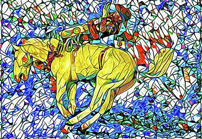Photograph - Palomino Buck Mosaic by Alice Gipson