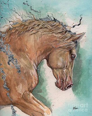Palomino Horse Painting - Palomino Horse 2016 02 22 by Angel Tarantella