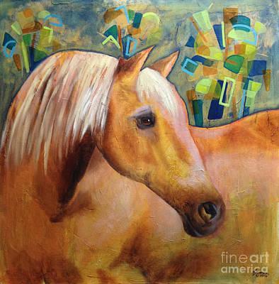 Palomino Horse Art Print by Dania Sierra