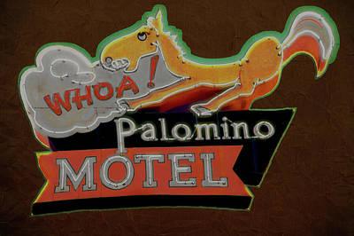 Art Print featuring the photograph Palomino Motel by Jeff Burgess