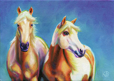 Pinto Painting - Palomino Pals by Karen Broemmelsick