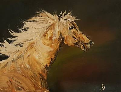 Painting - Palomino Running Wild                     85 by Cheryl Nancy Ann Gordon