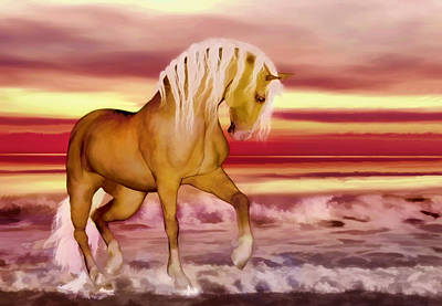 Digital Art - Palomino by Valerie Anne Kelly