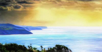 Mixed Media - Palos Verdes Coastal View by Joseph Hollingsworth