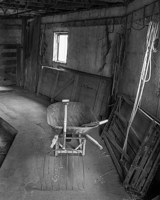 Palouse Barn Interior 4327 Art Print