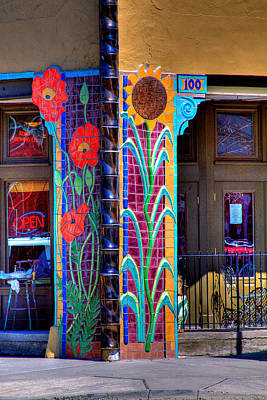 Flower Design Photograph - Palouse Cafe by David Patterson