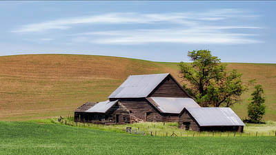 Photograph - Palouse Decaying Barn by Jerry Fornarotto