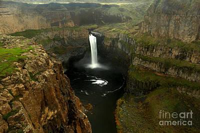 Photograph - Palouse Falls Canyon by Adam Jewell