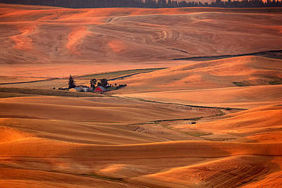 Photograph - Palouse Farm Sunset by Mary Jo Allen
