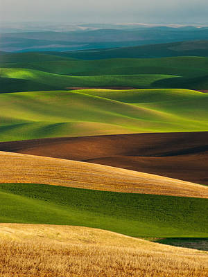Buttes Photograph - Palouse Layers by Thorsten Scheuermann