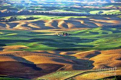 Photograph - Palouse Red Barn 3544 by Jack Schultz