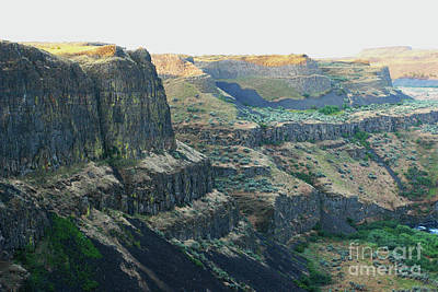 Photograph - Palouse River Canyon Buttes by Rich Collins