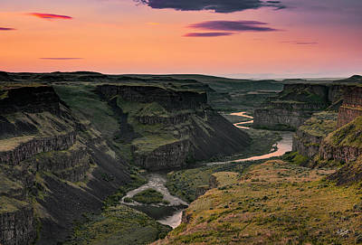 Warm Photograph - Palouse River Canyon by Leland D Howard