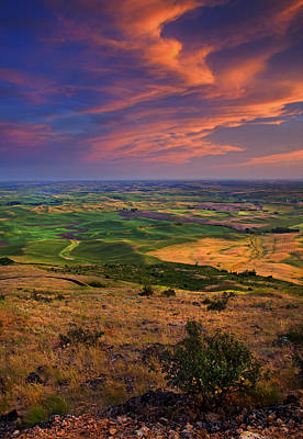 Palouse Photograph - Palouse Skies Ablaze by Mike  Dawson