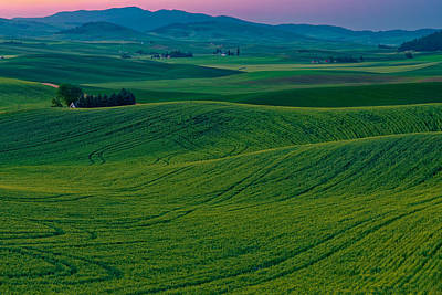 Palouse Sunrise Art Print by Thomas Hall