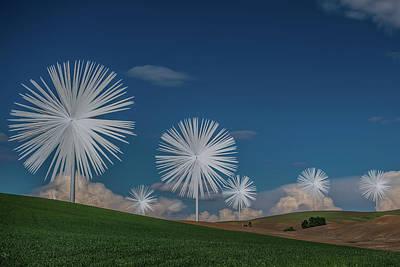 Photograph - Palouse Wind Turbines by Paul Freidlund